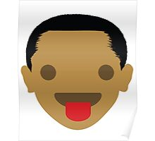 "Barack ""The Emoji"" Obama Tongue Out Poster"