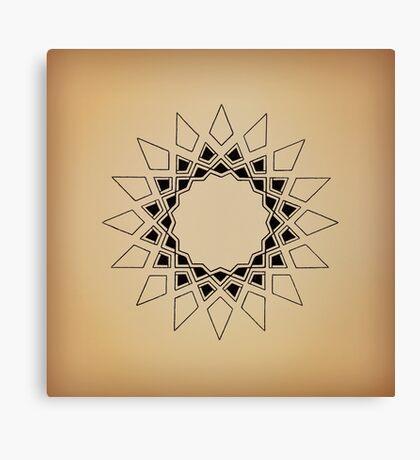 Mandala #211 || Tan Canvas Print