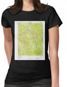 USGS TOPO Map California CA Willow Creek 301999 1952 62500 geo Womens Fitted T-Shirt