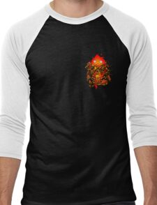 Pocket Calcifer Men's Baseball ¾ T-Shirt