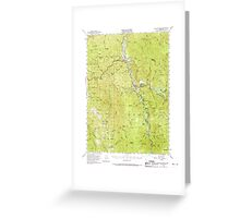 USGS TOPO Map California CA Willow Creek 301999 1952 62500 geo Greeting Card