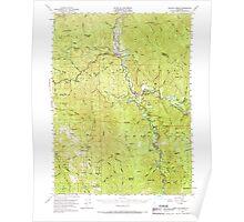 USGS TOPO Map California CA Willow Creek 301999 1952 62500 geo Poster