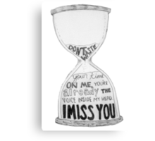 I Miss You - Blink 182 (2) Canvas Print