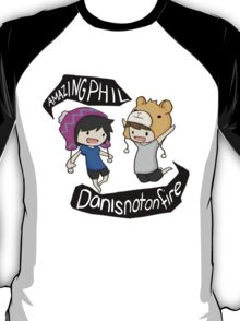Amazingphil & Danisnotonfire cartoon T-Shirt