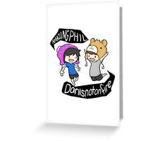 Amazingphil & Danisnotonfire cartoon Greeting Card