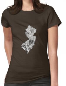 New Jersey Doodle Womens Fitted T-Shirt