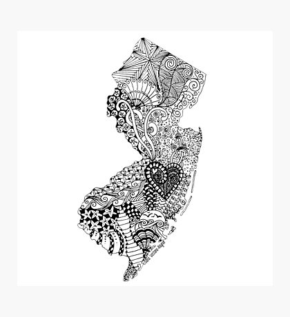 New Jersey Doodle Photographic Print