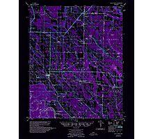 USGS TOPO Map Arkansas AR Holly Grove 260097 1957 62500 Inverted Photographic Print