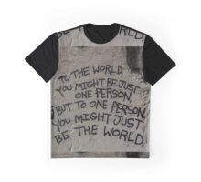 Harsh Words are written Graphic T-Shirt