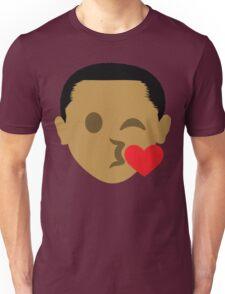 "Barack ""The Emoji"" Obama Flirting and Blowing Kiss Unisex T-Shirt"