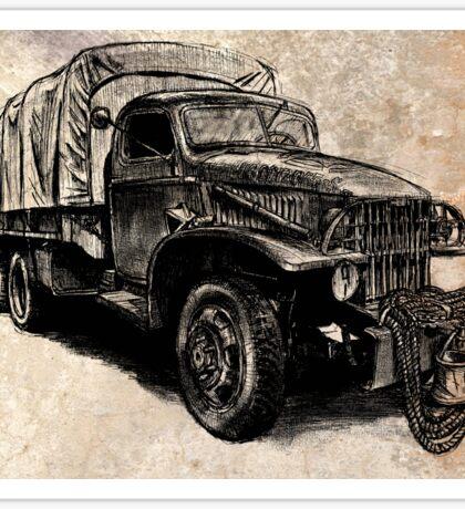 World War 2 Allied Army Truck Sticker