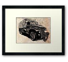 World War 2 Allied Army Truck Framed Print