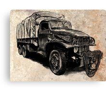 World War 2 Allied Army Truck Canvas Print