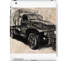 World War 2 Allied Army Truck iPad Case/Skin