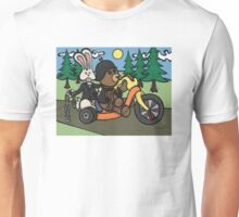 Teddy Bear And Bunny - Easy Rider Unisex T-Shirt
