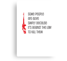 some people Canvas Print