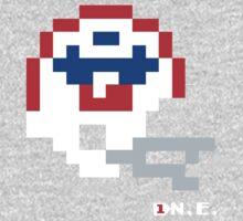 New England Original Helmet - Tecmo Bowl Shirt One Piece - Long Sleeve
