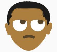 """Barack """"The Emoji"""" Obama Thinking Hard and Hmm Face One Piece - Short Sleeve"""