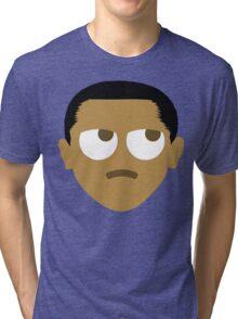 "Barack ""The Emoji"" Obama Thinking Hard and Hmm Face Tri-blend T-Shirt"