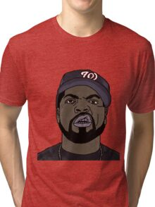 Ice Cube Cartoon Tri-blend T-Shirt