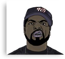 Ice Cube Cartoon Canvas Print