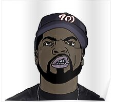 Ice Cube Cartoon Poster