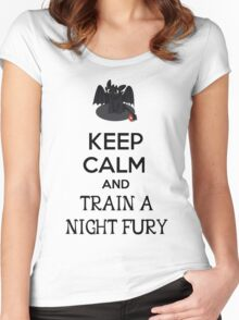 Keep Calm and Train a Night Fury Women's Fitted Scoop T-Shirt