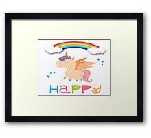 My little Happy Pony! Framed Print