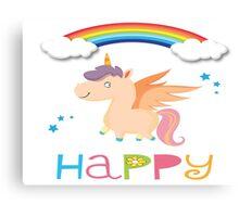 My little Happy Pony! Canvas Print