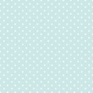 Vintage Pastel Blue Turquoise Polka Dot by B Rush