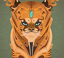 Tigers Mask by Thelma carias