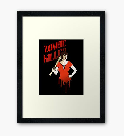 Zombie Killer Framed Print