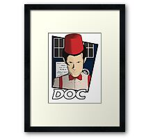 Doc Who?! Framed Print