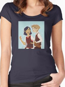 Padfoot n Moony Women's Fitted Scoop T-Shirt