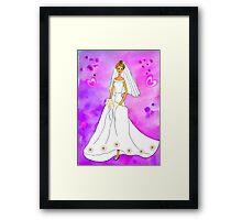 Pretty bride inspired by Barbie Framed Print