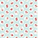 Simple Vintage Floral Circle Pattern by B Rush