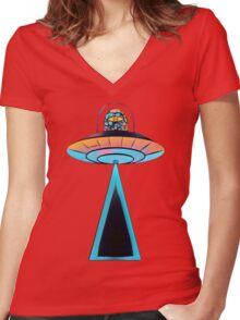 Beam Me Up! Women's Fitted V-Neck T-Shirt