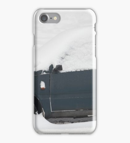 small car under snow iPhone Case/Skin