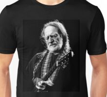 Willie Nelson Black White Unisex T-Shirt