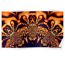 Monks Pondering Sacred Geometry  - Fractal Surreal Abstract Poster