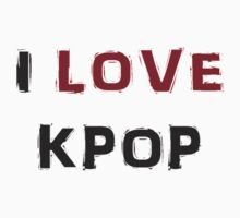 I LOVE KPOP - YELLOW Kids Clothes