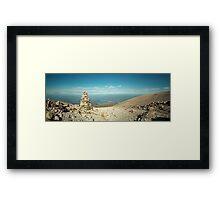 View of a cairn on Ben Nevis Framed Print