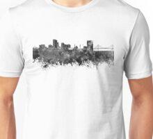 Toledo skyline in black watercolor Unisex T-Shirt