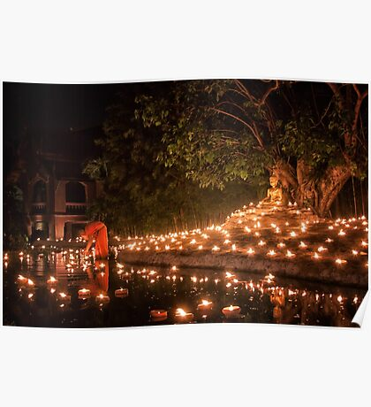Makha Bucha in Thailand Poster