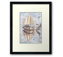 Il Veliero Volante e la Citta' Mongolfiera Framed Print