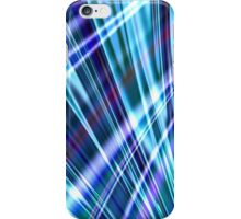 Color & Form Abstract - Blue Light Refraction iPhone Case/Skin