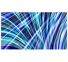 Color & Form Abstract - Blue Light Refraction Photographic Print