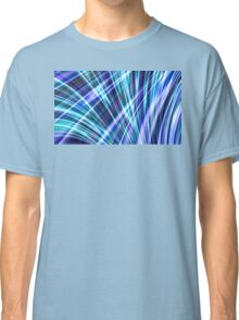 Color & Form Abstract - Blue Light Refraction Classic T-Shirt