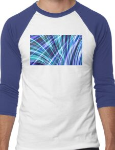 Color & Form Abstract - Blue Light Refraction Men's Baseball ¾ T-Shirt