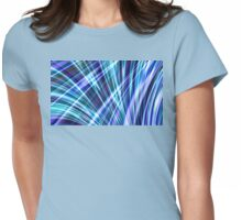 Color & Form Abstract - Blue Light Refraction Womens Fitted T-Shirt